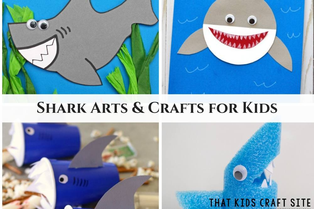 Shark Arts and Crafts for Kids - Preschool Summer Crafts - ThatKidsCraftSite.com