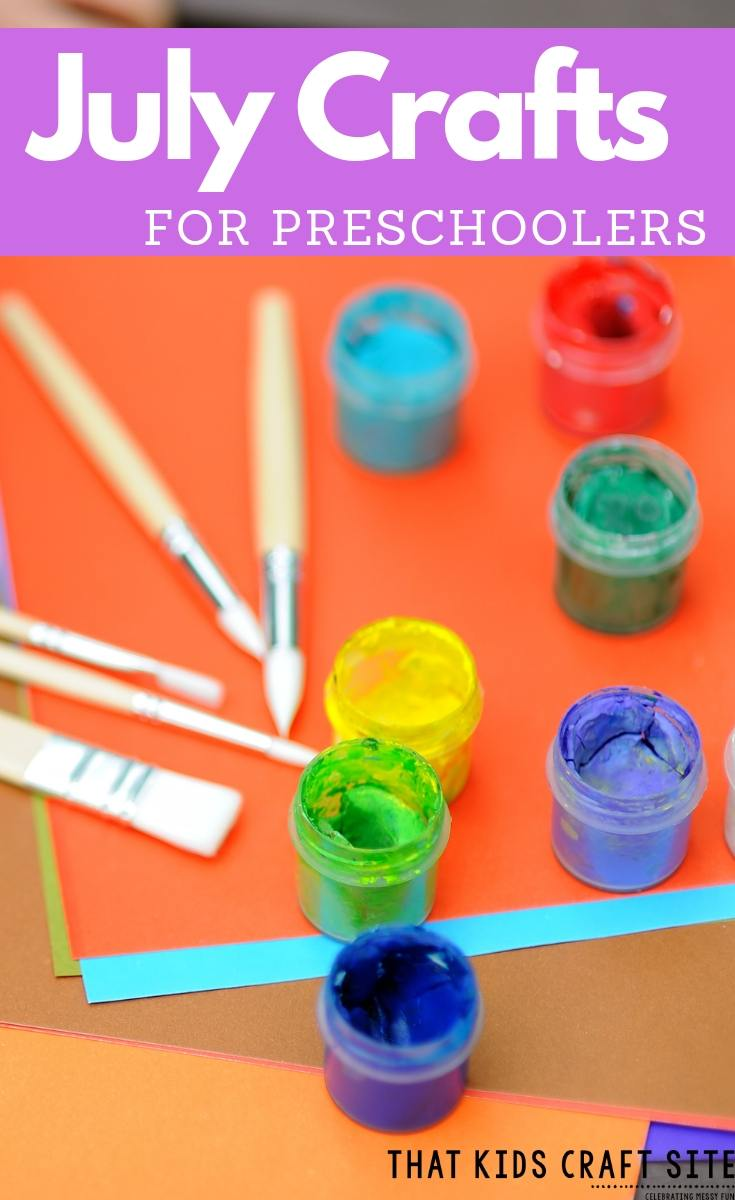 Summer Preschool Crafts for July - Fun Crafts for Preschoolers - ThatKidsCraftSite.com
