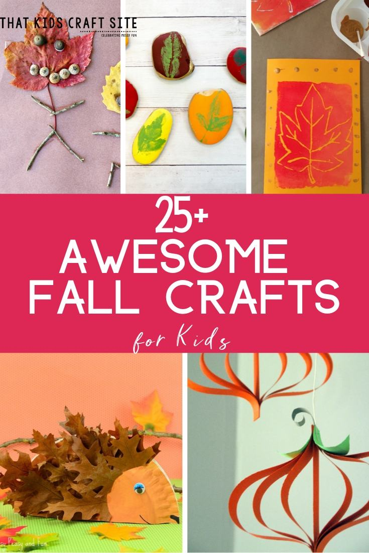 25+ Awesome Fall Crafts for Kids - Preschool Fall Crafts - ThatKidsCraftSite.com