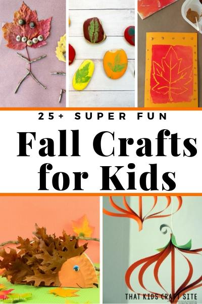 25+ Super Fun Fall Crafts for Kids - ThatKidsCraftSite.com