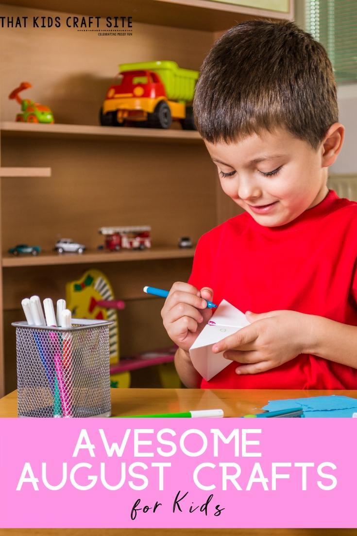 Awesome August Crafts for Kids - Preschool Summer Crafts - ThatKidsCraftSite.com