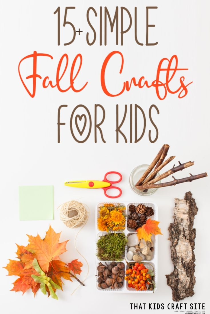 15+ Easy Fall Crafts for Kids - Fall Nature Crafts for Kids - ThatKidsCraftSite.com