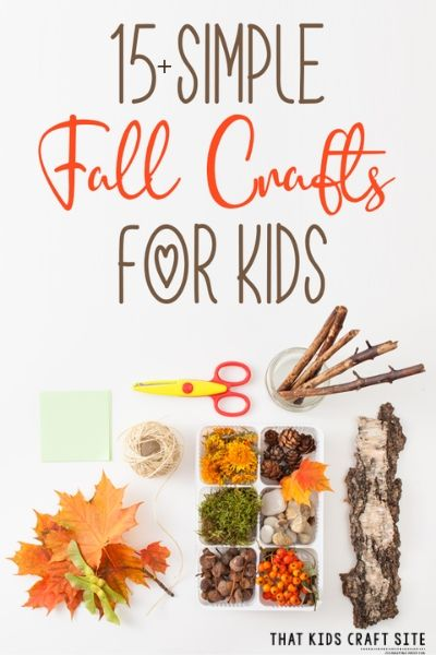 Easy Fall Crafts for Kids - ThatKidsCraftSite.com
