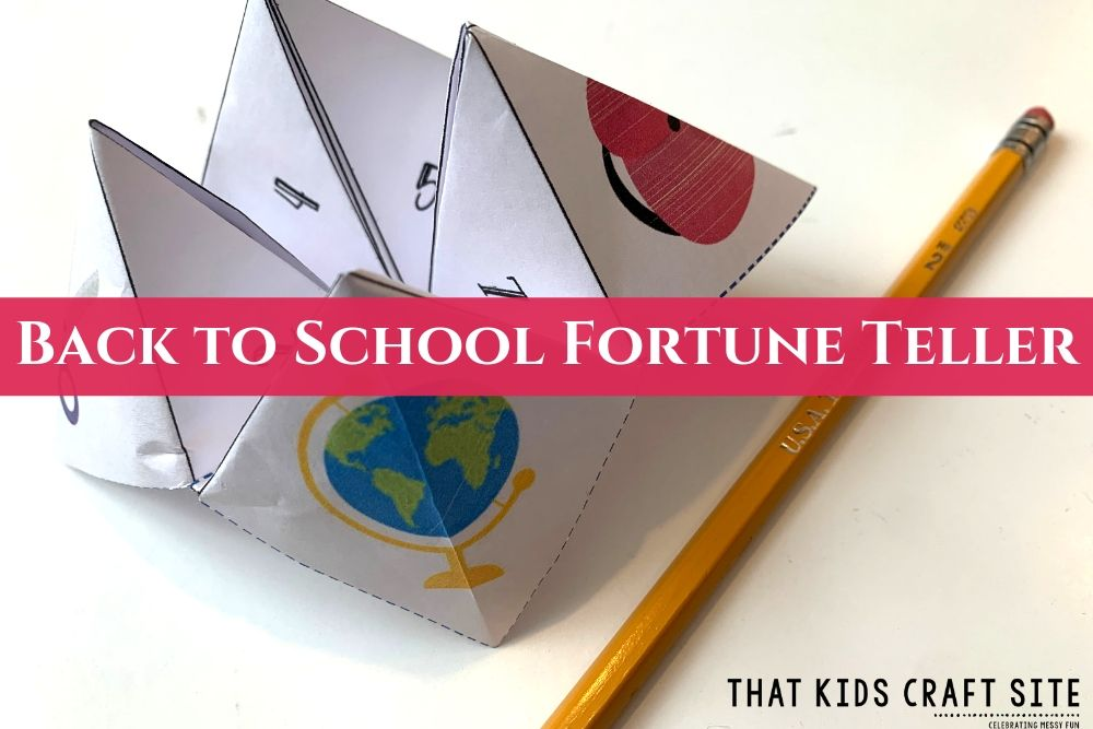 Back to School Printable Fortune Teller Template for Kids - ThatKidsCraftSite.com