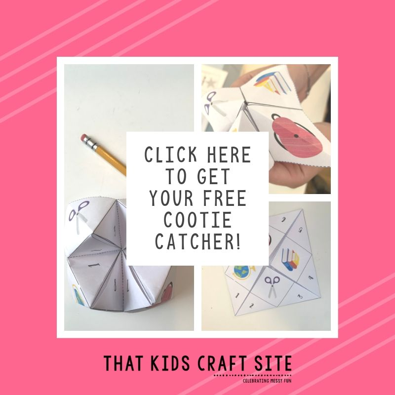 Click here to get your free printable fortune teller craft!