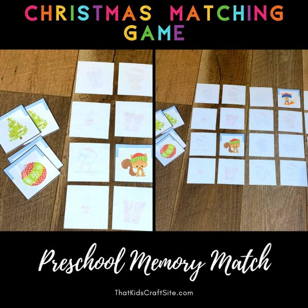 Christmas Matching Game - Memory Match - The Shop at ThatKidsCraftSite.com