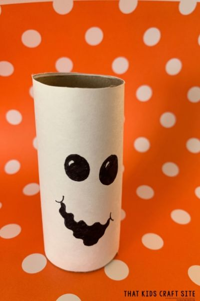 Ghost Craft - a Halloween Craft for Preschoolers - ThatKidsCraftSite.com
