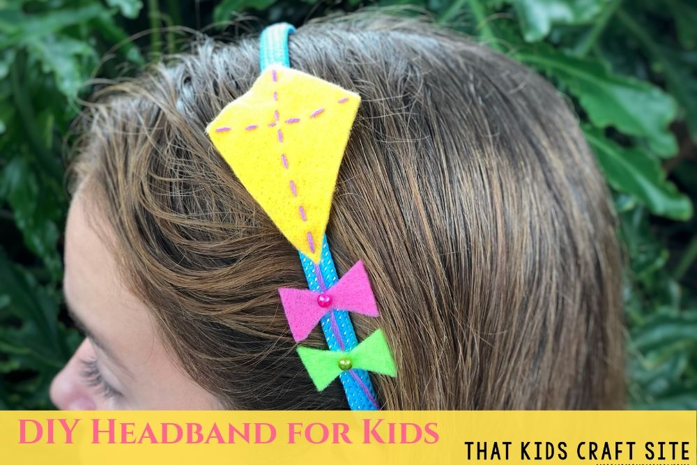 DIY Kite Headband Craft for Kids - ThatKidsCraftSite.com