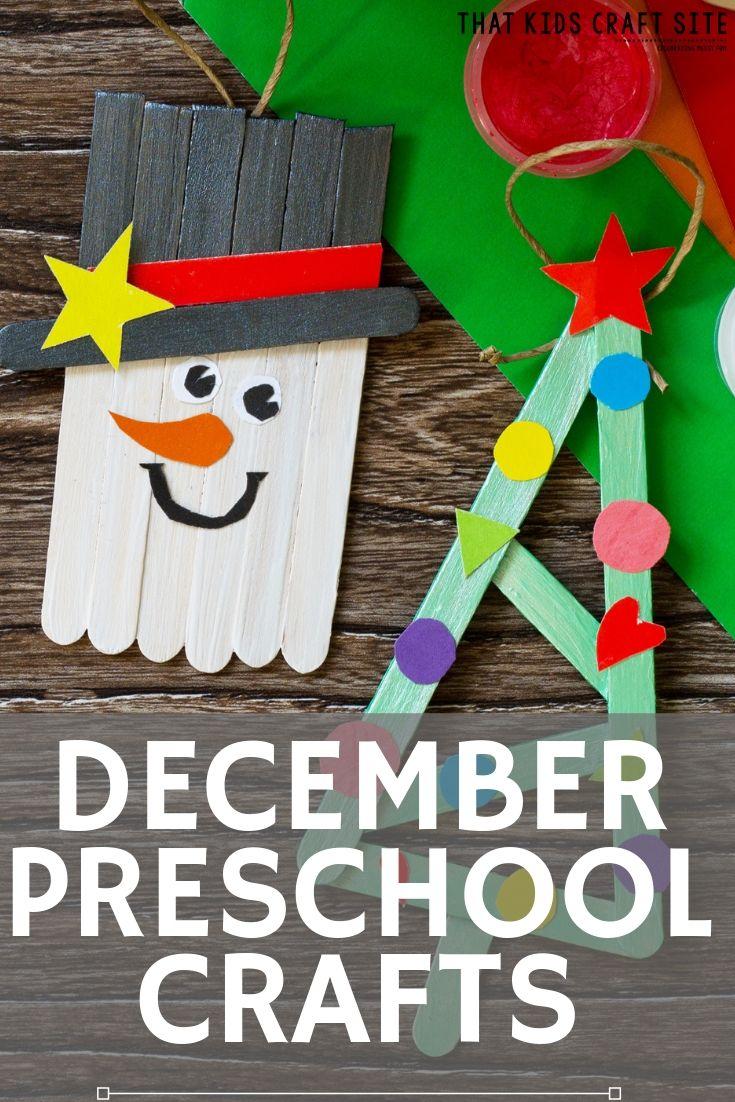 December Preschool Arts and Crafts - ThatKidsCraftSite.com