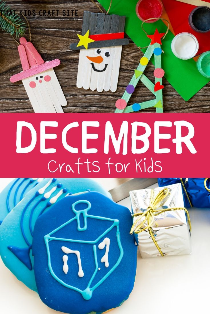 December Preschool Crafts for Kids - ThatKidsCraftSite.com