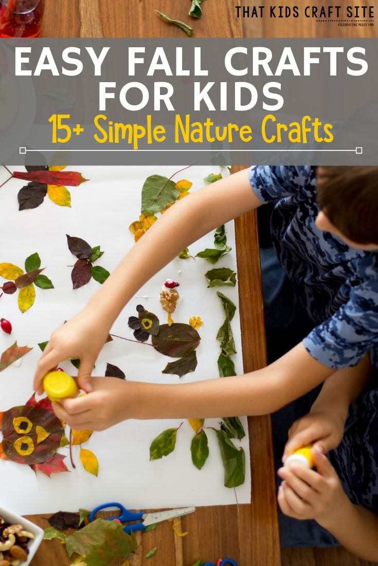 Easy Fall Crafts for Kids - 15+ Simple Nature Crafts for Kids  - ThatKidsCraftSite.com