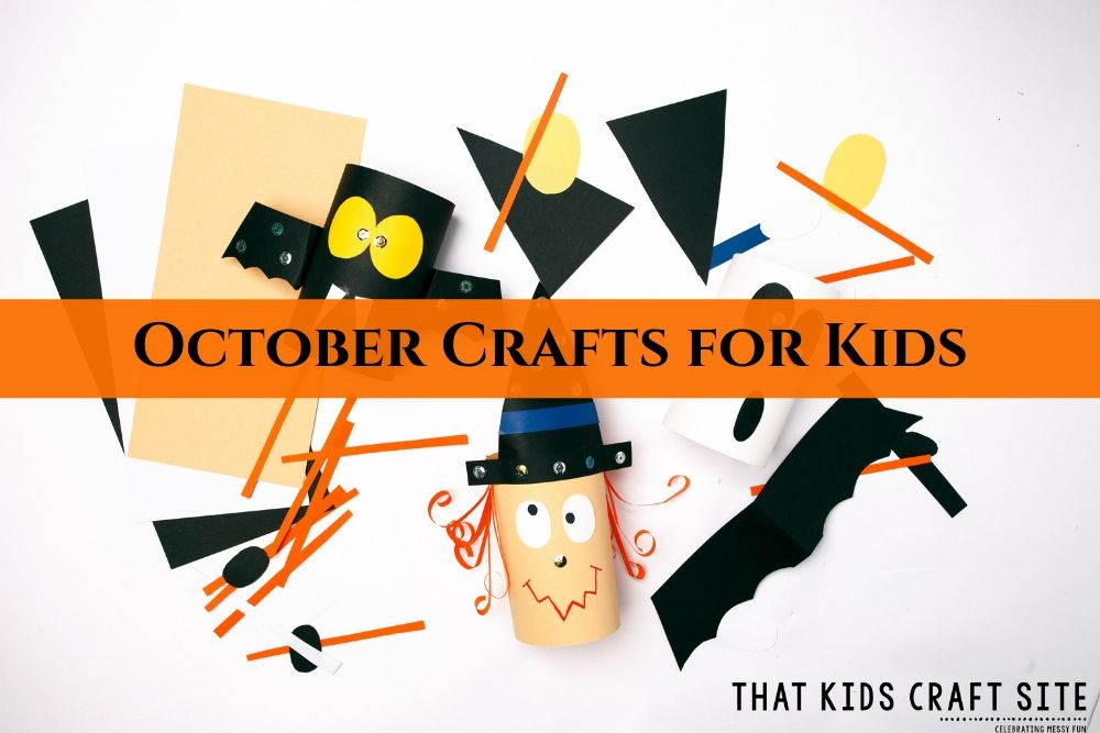Easy October Crafts for Kids - ThatKidsCraftSite.com