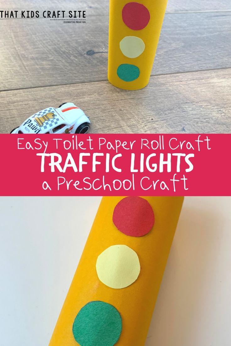 Easy Toilet Paper Roll Craft: Making Traffic Lights Preschool Craft