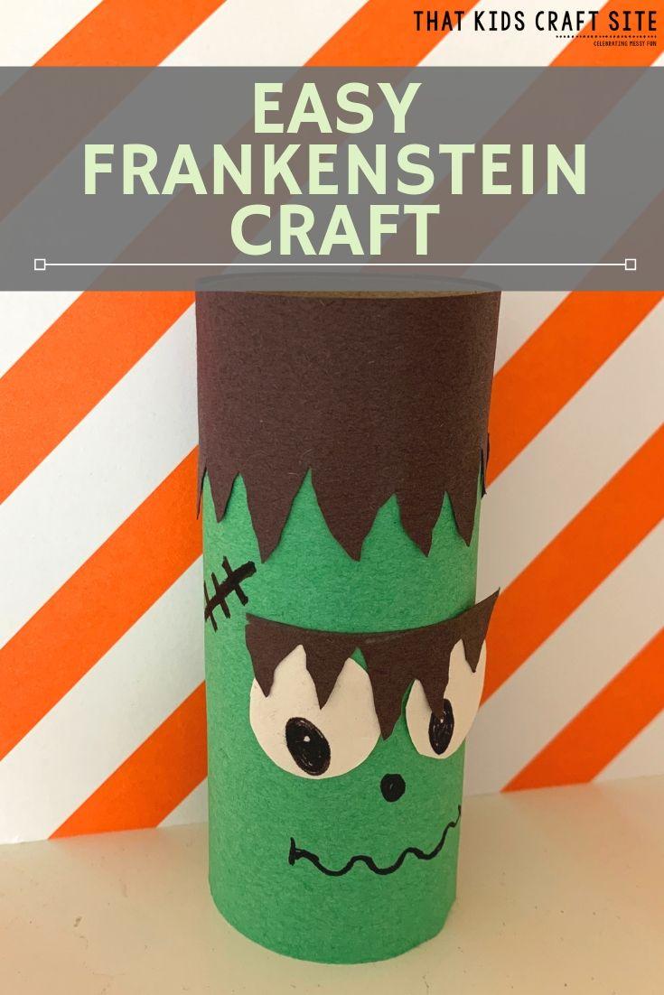 Easy Toilet Paper Roll Frankenstein Craft  - ThatKidsCraftSite.com
