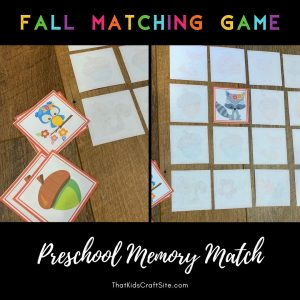 Fall Matching Game - Memory Match - The Shop at ThatKidsCraftSite.com