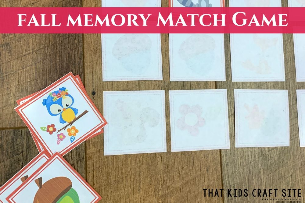 Fall Memory Match Game for Kids - ThatKidsCraftSite.com