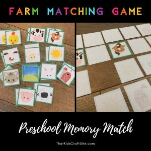 Farm Matching Game - Memory Match - The Shop at ThatKidsCraftSite.com