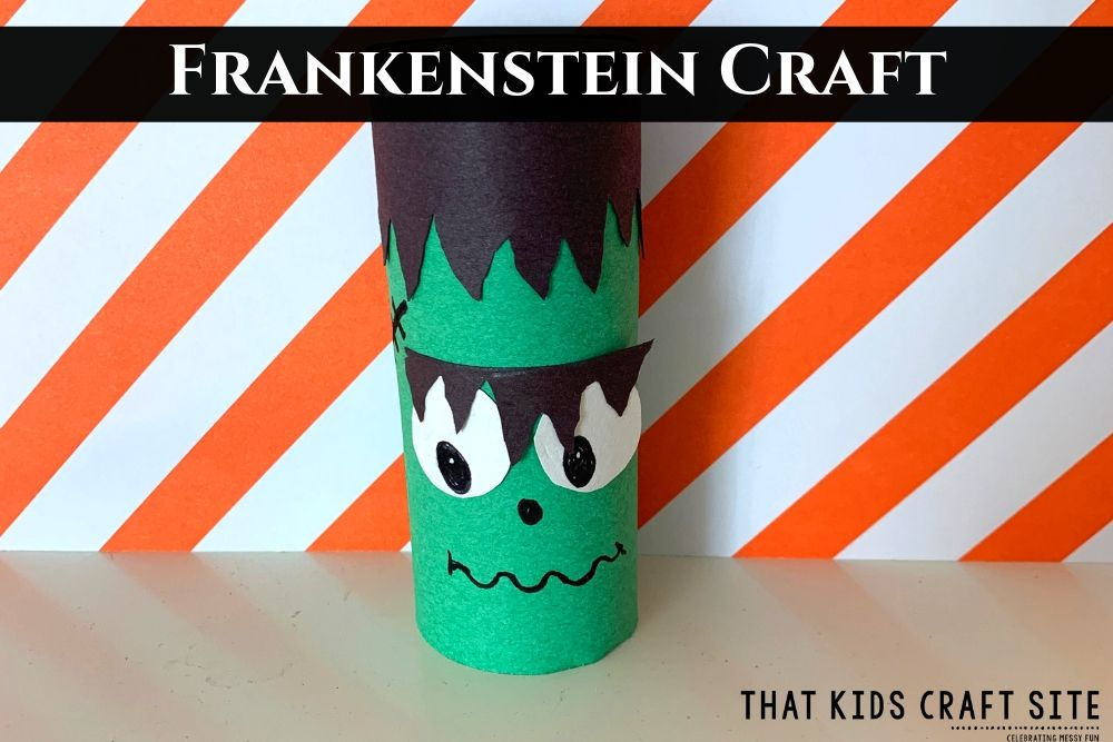 Frankenstein Craft for Kids - ThatKidsCraftSite.com