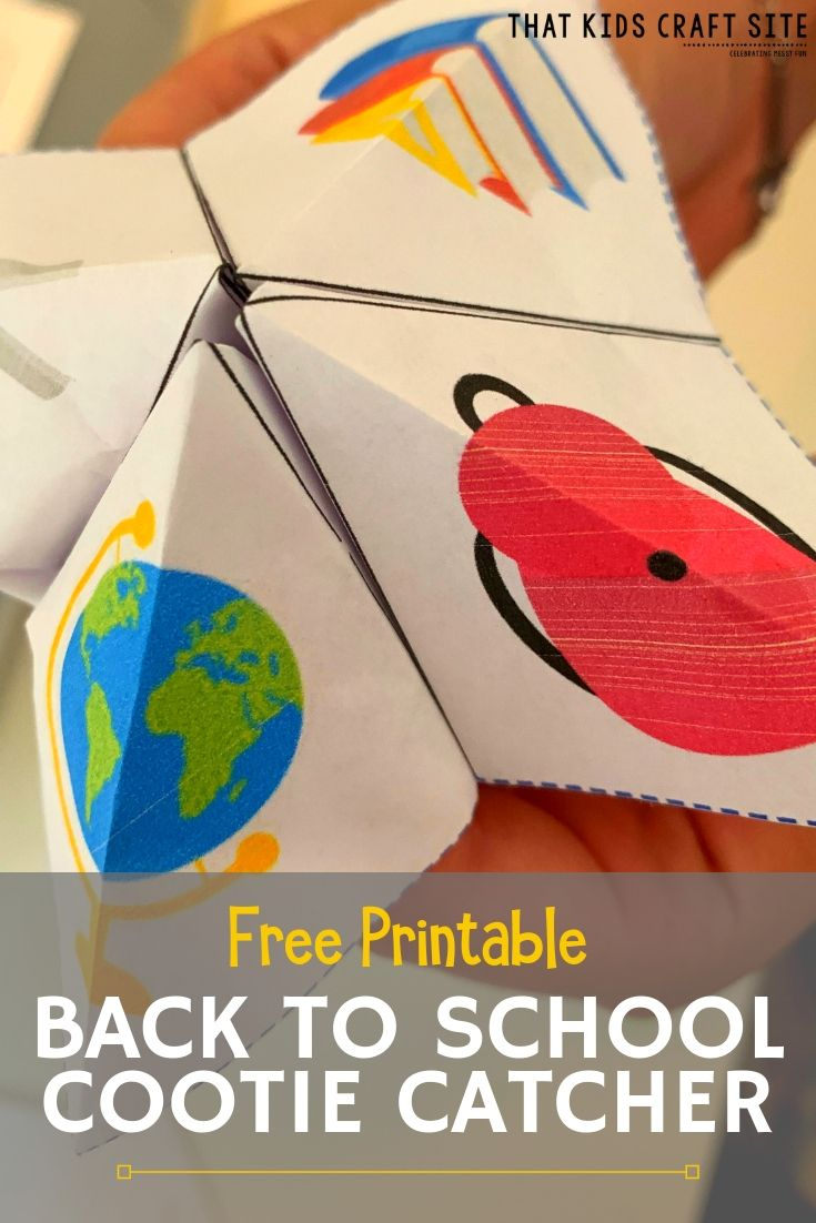 Free Printable Back to School Cootie Catcher - ThatKidsCraftSite.com