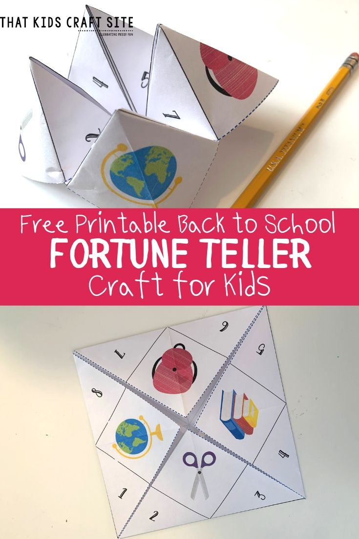 Free Printable Back to School Fortune Teller Craft for Kids - ThatKidsCraftSite.com