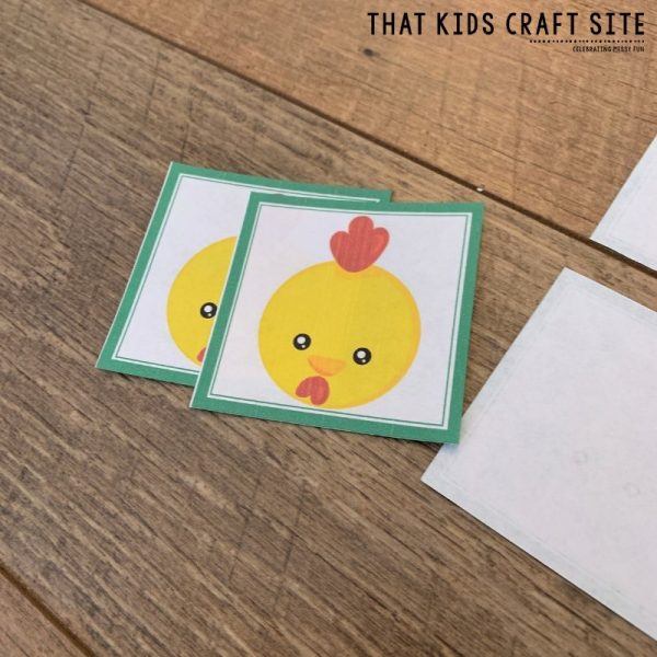 Fun Farm Memory Matching Game for Preschool - ThatKidsCraftSite.com