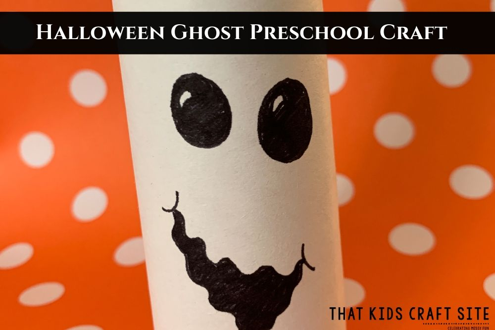 Halloween Ghost Cardboard Tube Craft