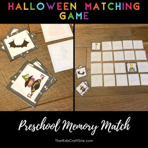 Halloween Matching Game - Memory Match - The Shop at ThatKidsCraftSite.com