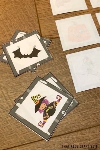 Halloween Matching Game Printable - ThatKidsCraftSite.com
