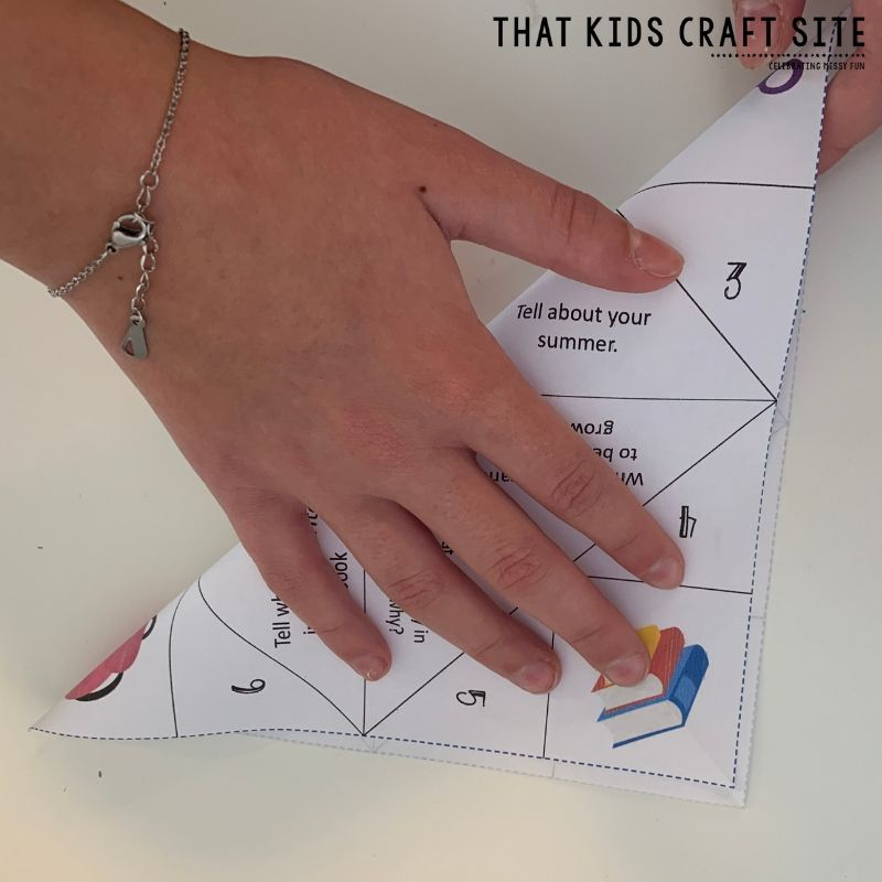How to Fold a Cootie Catcher Step 2 - ThatKidsCraftSite.com