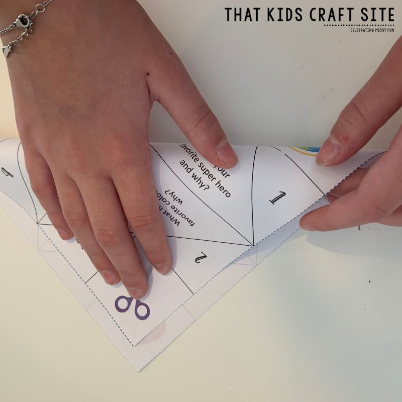 How to Fold a Cootie Catcher Step 3 - ThatKidsCraftSite.com