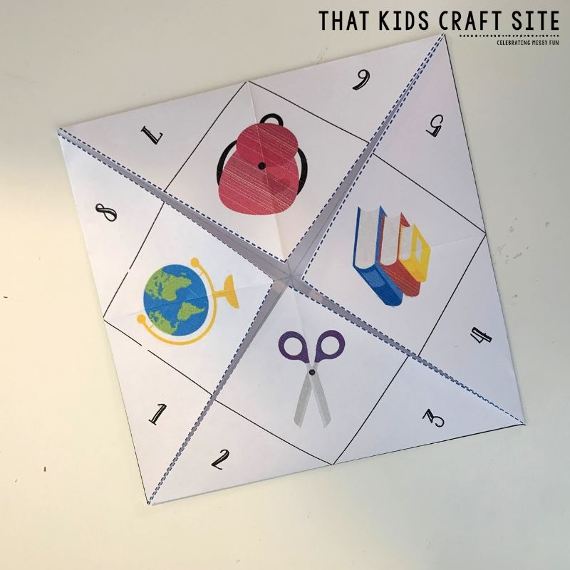 How to Fold a Cootie Catcher Step 4 - ThatKidsCraftSite.com