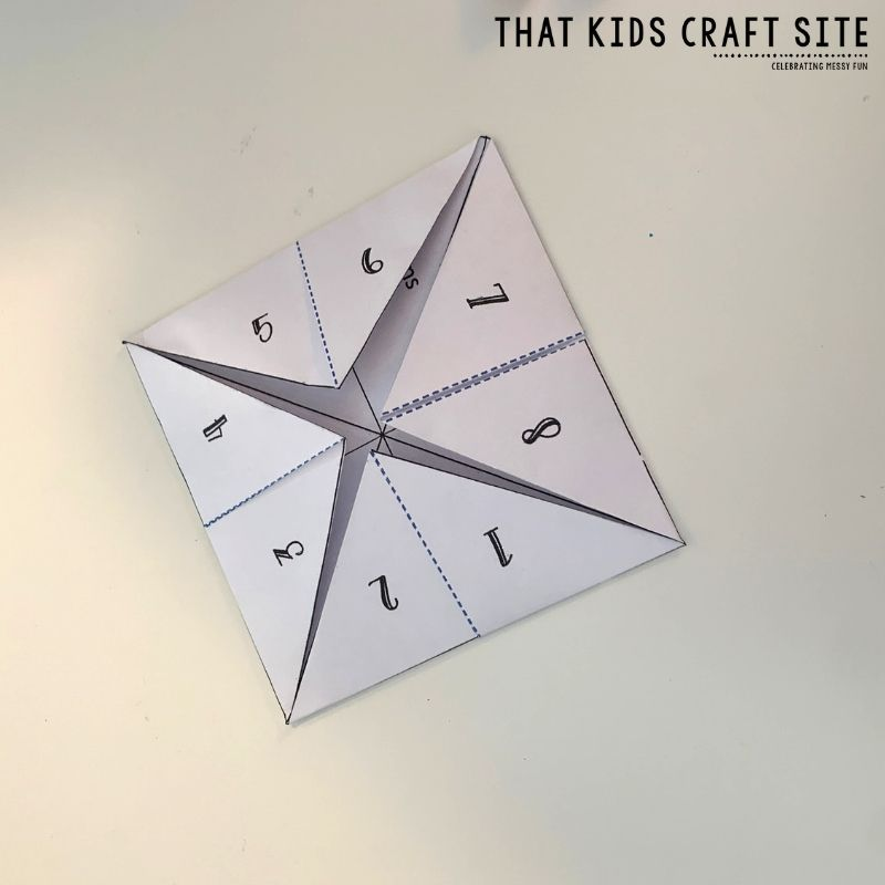 How to Fold a Cootie Catcher Step 5 - ThatKidsCraftSite.com
