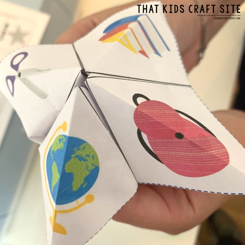 How to Fold a Cootie Catcher Step 6 - ThatKidsCraftSite.com