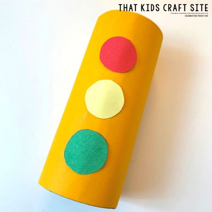 How to Make Traffic Lights - A Preschool Transportation Craft for Kids - ThatKidsCraftSite.com