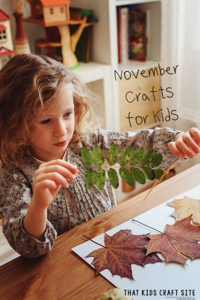November Crafts for Kids - ThatKidsCraftSite.com