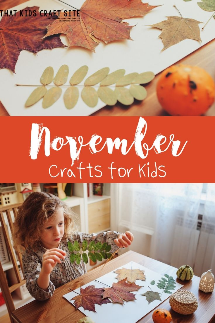November Preschool Crafts for Kids - ThatKidsCraftSite.com