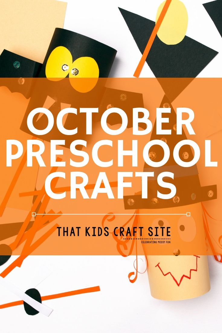 October Preschool Arts and Crafts - ThatKidsCraftSite.com