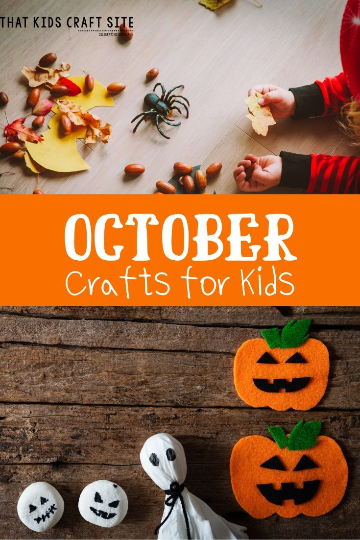 October Preschool Crafts for Kids - ThatKidsCraftSite.com