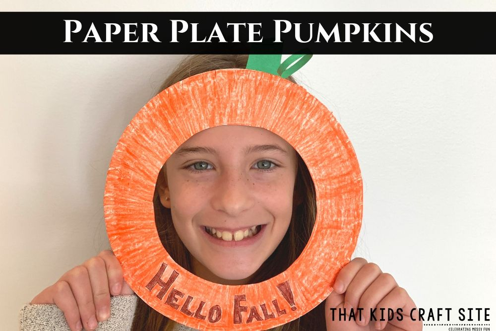 Paper Plate Pumpkins Craft for Kids