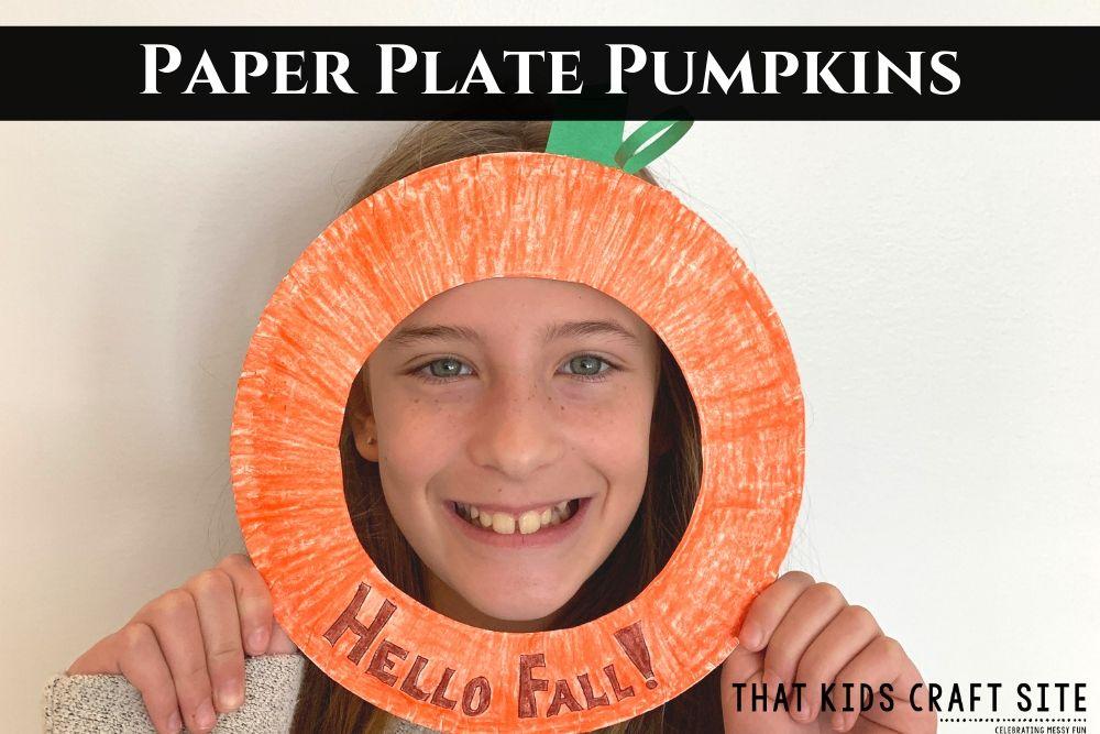 Paper Plate Pumpkins Craft for Kids - ThatKidsCraftSite.com