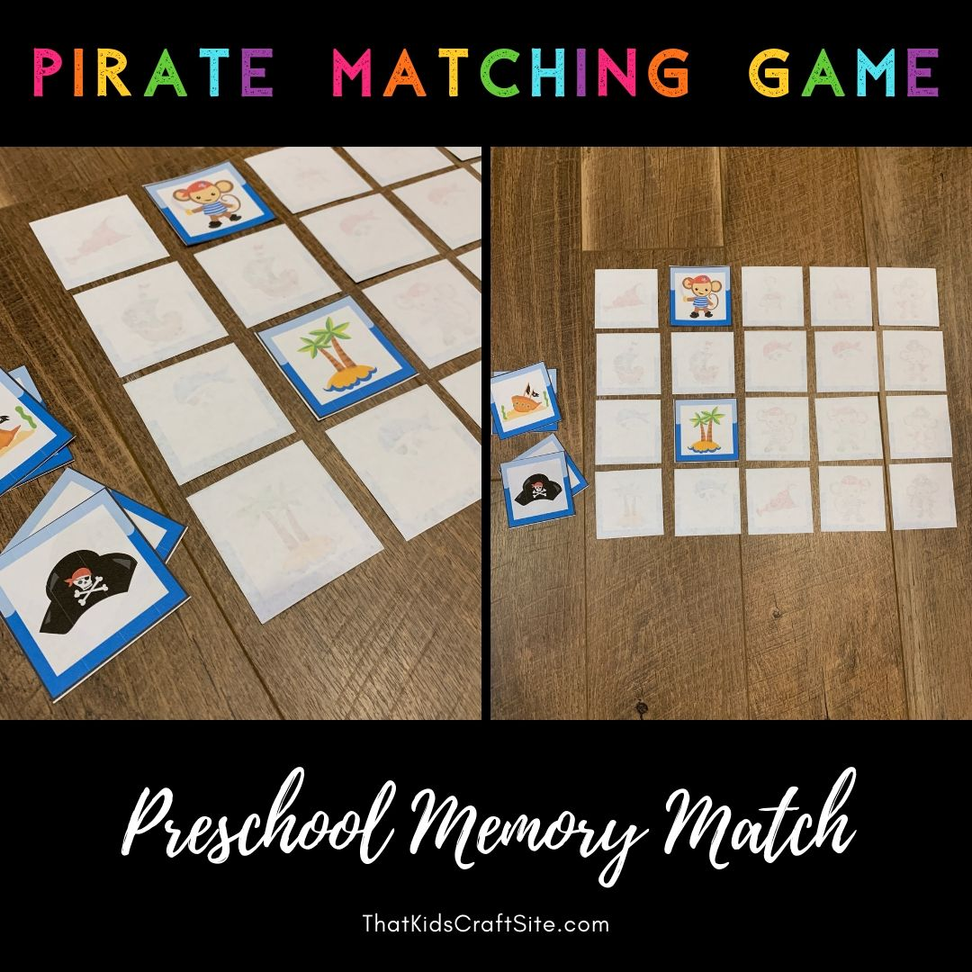 photograph about Make Your Own Matching Game Printable named Pirate Matching Activity
