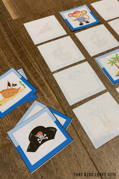 Pirate Matching Game Printable for Talk Like a Pirate Day - ThatKidsCraftSite.com