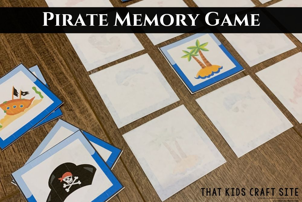 Pirate Memory Game for Kids - ThatKidsCraftSite.com