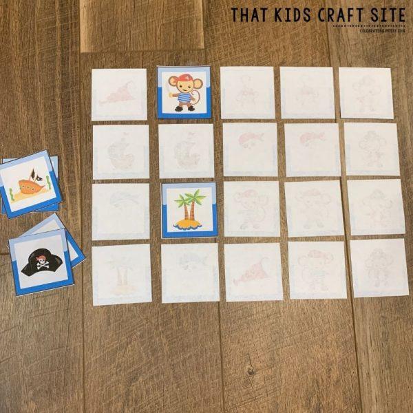 Pirate Memory Matching Game - ThatKidsCraftSite.com