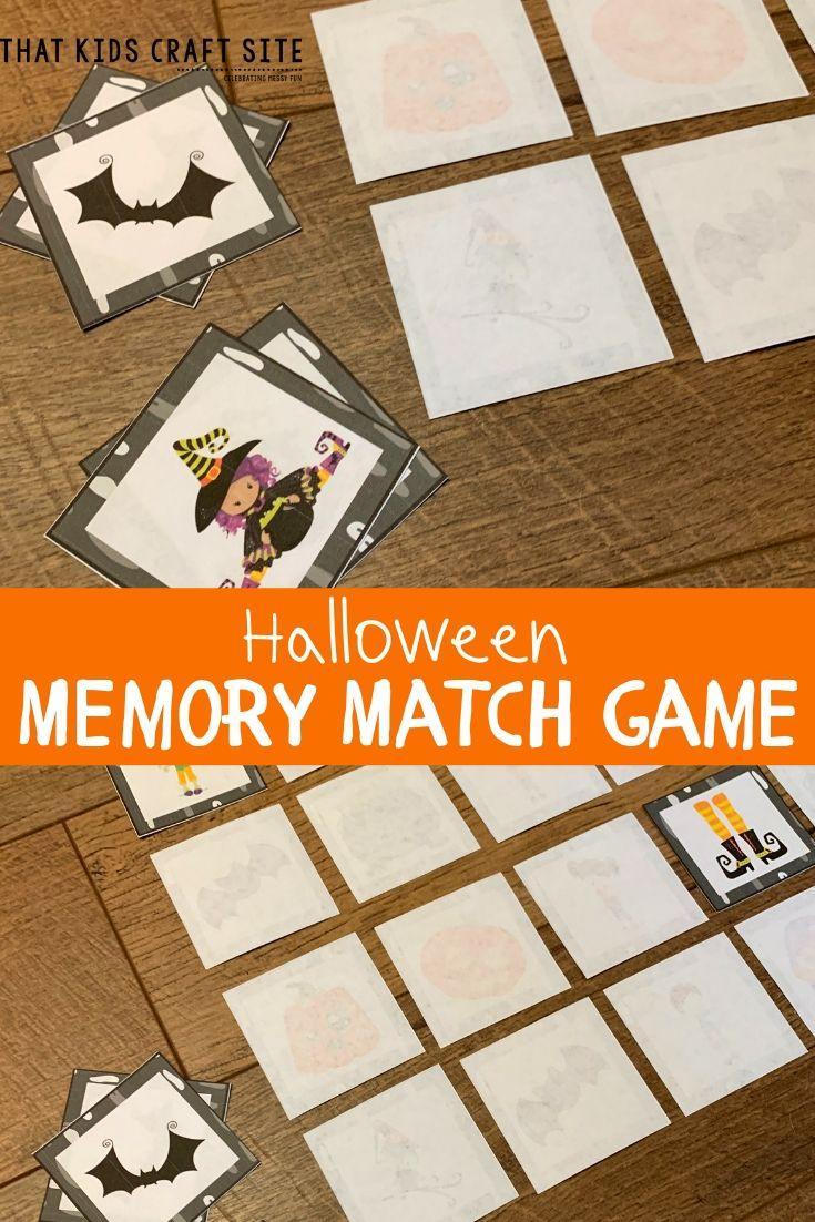 Halloween Matching Game Printable - ThatKidsCraftSite.com