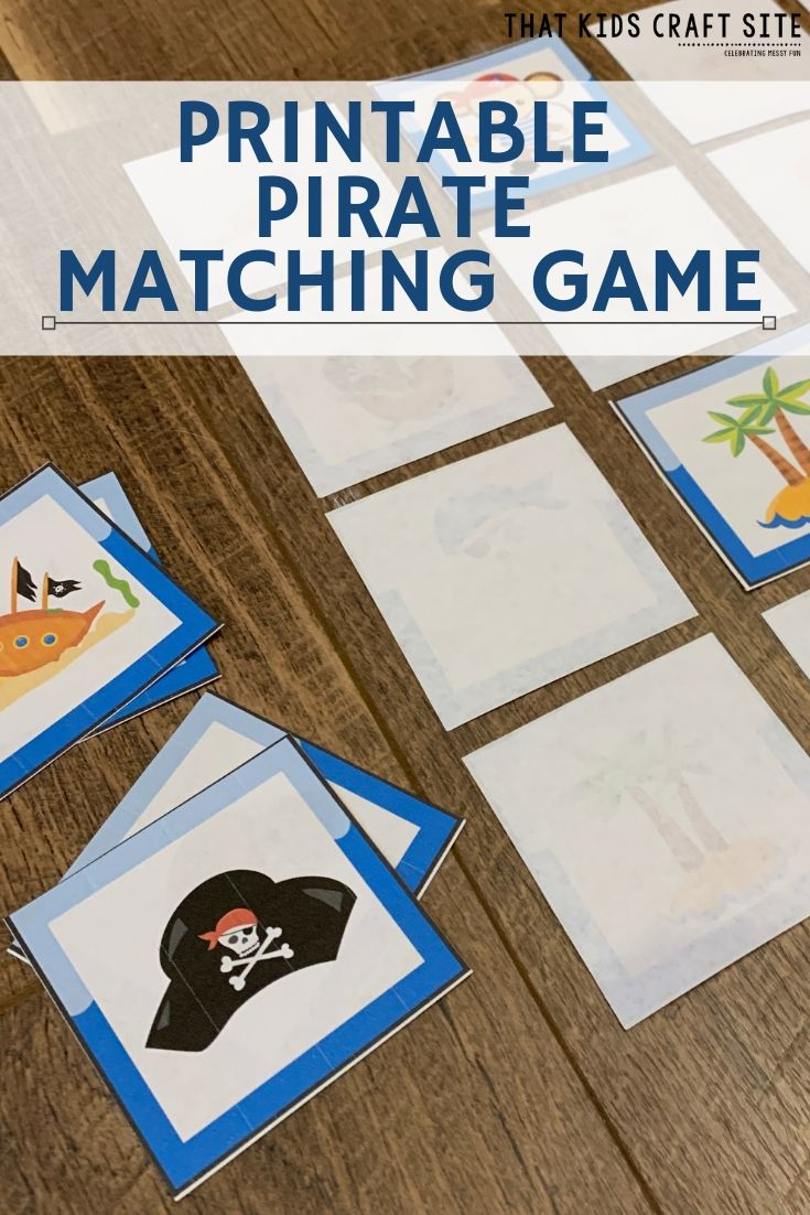 Printable Pirate Matching Game for Kids - ThatKidsCraftSite.com