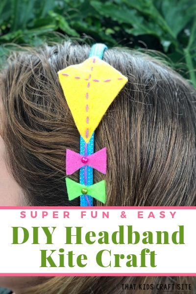 Super Fun and Easy DIY Headband Kite Craft  - ThatKidsCraftSite.com