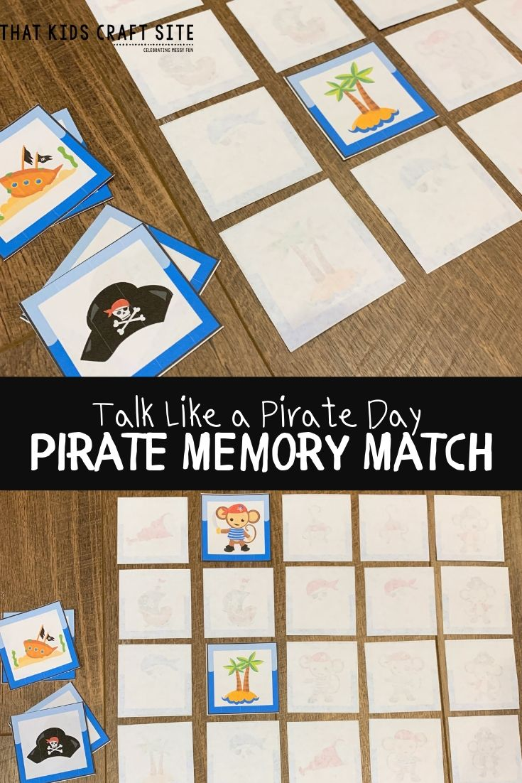 image relating to What's Your Pirate Name Printable identified as Printable Pirate Matching Sport - That Young children Craft Website