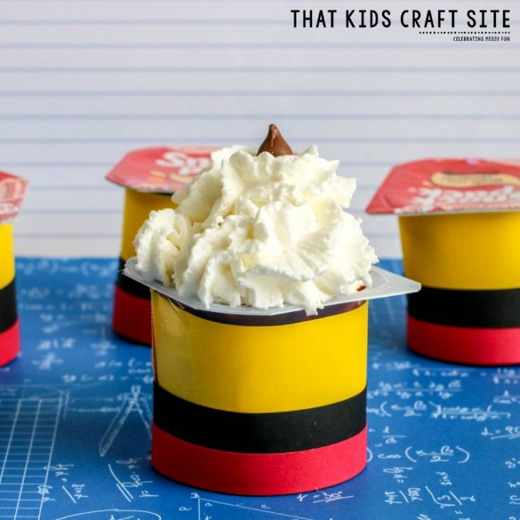 Yummy Pencil Pudding Cups - ThatKidsCraftSite.com