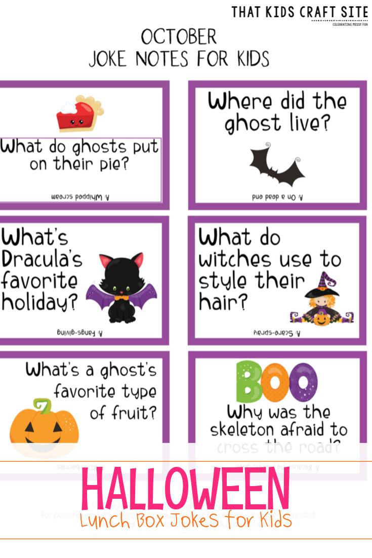 Free Printable Halloween Lunch Box Jokes for Kids  - ThatKidsCraftSite.com